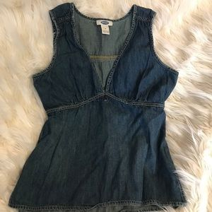 Old Navy women's XS sleeveless denim top